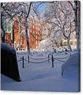 Boston Ma Granary Burying Ground Tremont St Grave Stones Canvas Print