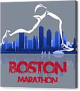 Boston Marathon 3a Running Runner Canvas Print