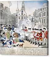 Boston Massacre, 1770 Canvas Print