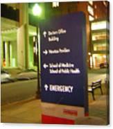Boston Medical At Night Canvas Print