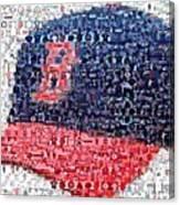Boston Red Sox Cap Mosaic Canvas Print