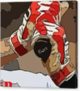 Boston Red Sox Original Typography Baseball Team  Canvas Print