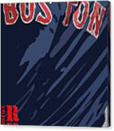 Boston Red Sox Typography Blue Canvas Print