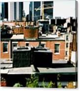 Boston Roof Tops Canvas Print