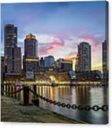 Boston,ma Sunset Canvas Print