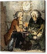 Boswell And Johnson, 1786 Canvas Print