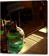 Bottle And Light Canvas Print