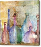 Bottle Collage Canvas Print