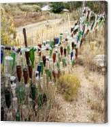 Bottle Fence. Canvas Print