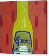 Bottle Of Corona Light Canvas Print