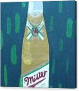Bottle Of Miller Beer Canvas Print