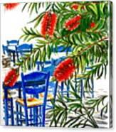 Bottlebrush And Blue Canvas Print
