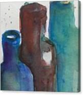 Bottles 3  Canvas Print