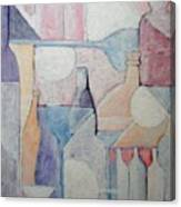 Bottles And Glasses Canvas Print