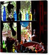 Bottles And Shadows Canvas Print