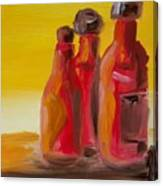 Bottles Of Hot Sauce Canvas Print