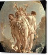 Boucher: Three Graces, 18 C Canvas Print