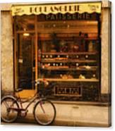 Boulangerie And Bike Canvas Print