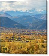 Boulder Colorado Autumn Scenic View Canvas Print
