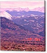 Boulder Colorado Sunrise Panorama Canvas Print
