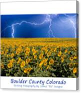 Boulder  County Colorado Canvas Print
