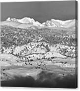 Boulder County Continental Divide Panorama Bw Canvas Print