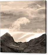 Boulder County Indian Peaks Sepia Image Canvas Print