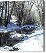 Boulder Creek After A Snowstorm Canvas Print