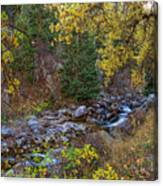Boulder Creek Autumn View  Canvas Print