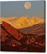Boulder Moonrise Canvas Print