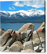 Boulder Shore Lake Tahoe Canvas Print