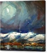 Boulder Winter Night Canvas Print