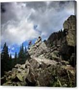 Bouldering On The Flint Creek Trail - Weminuche Wilderness Canvas Print
