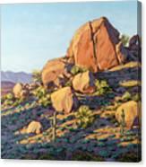 Boulders By Pinnacle Peak Mountain Canvas Print