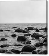 Boulders In The Ocean Canvas Print