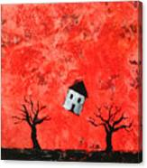 Bouncing House Fiery Sky Canvas Print
