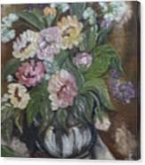 Bouquet De Fleurs Canvas Print