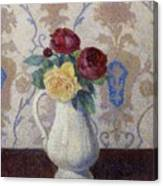 Bouquet De Roses Dans Un Vase 1885 Canvas Print