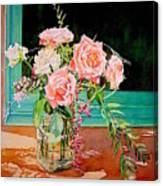 Bouquet De Roses - Marrakech Canvas Print