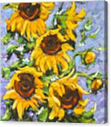 Bouquet Del Sol Sunflowers Canvas Print