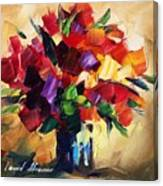 Bouquet For Sweeheart Canvas Print
