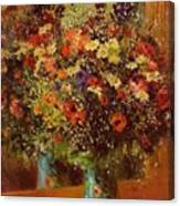 Bouquet In Front Of A Mirror 1877 Canvas Print