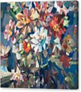 Bouquet Near The Window Canvas Print