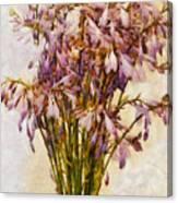 Bouquet Of Hostas Canvas Print