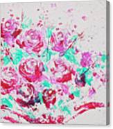 Bouquet Of Pink Roses Canvas Print