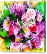 Bouquet Of Purple Canvas Print