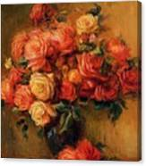 Bouquet Of Roses 1900 Canvas Print