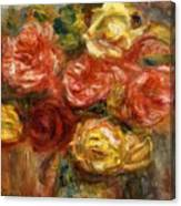 Bouquet Of Roses In A Vase 1900 Canvas Print