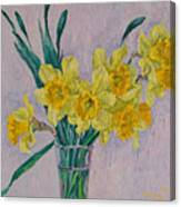 Bouquet Of Yellow Daffodils Canvas Print
