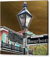Bourbon And St. Phillip Streets Canvas Print